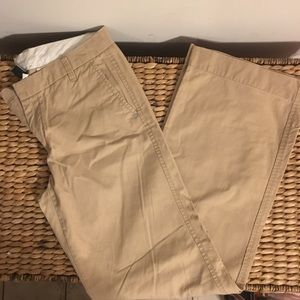 BN GAP Semi Wideleg Khaki Pants